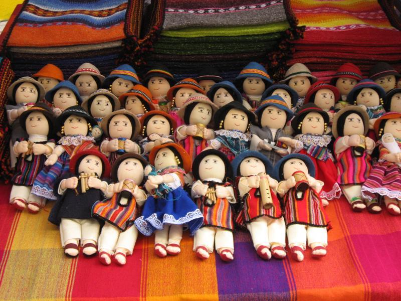 Dolls at the Otavalo Market