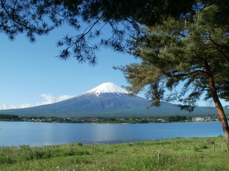Mount Fuji view viewed from Lake Kawaguchiko near Sunnide Resort