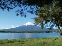 Mount Fuji view viewed from Lake Kawaguchiko near Sunnide Resort
