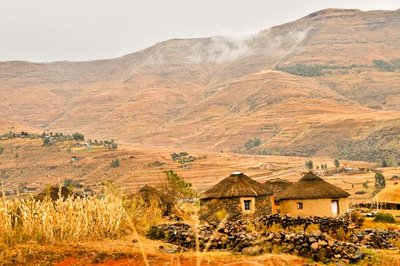 Lesotho Rondavel Huts