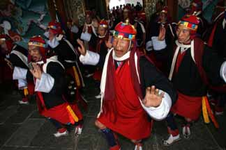 The Bhutanese soldiers dance