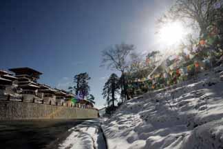 On mountain snowscape