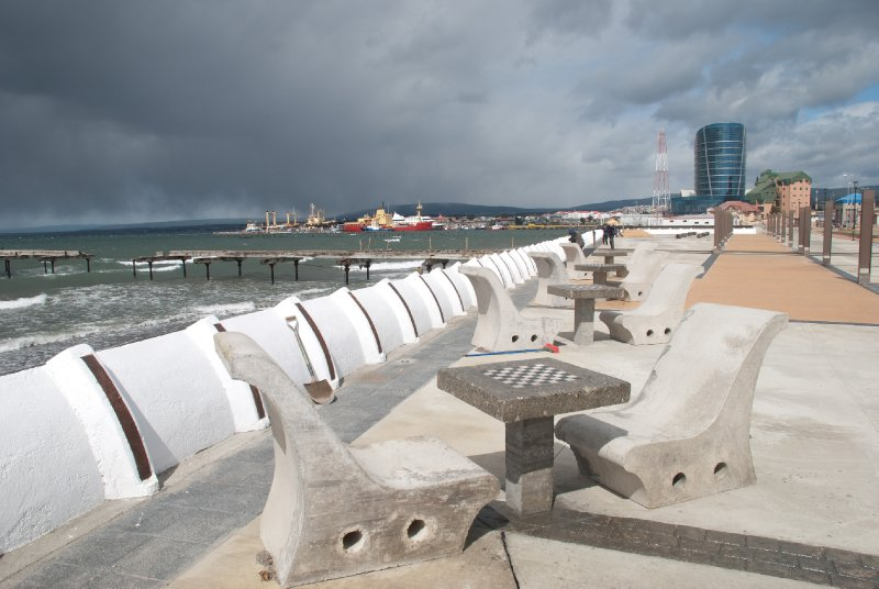 The seafront in Punta Arenas