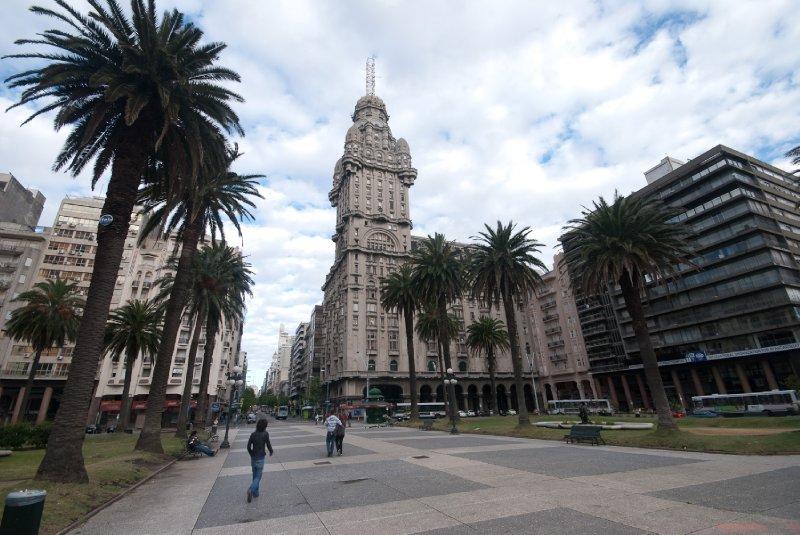Main square in Montevideo