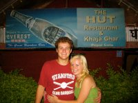 Galen and Laura in Front of The Hut