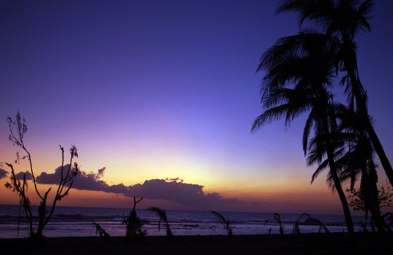 Sunset with destruction Tanna