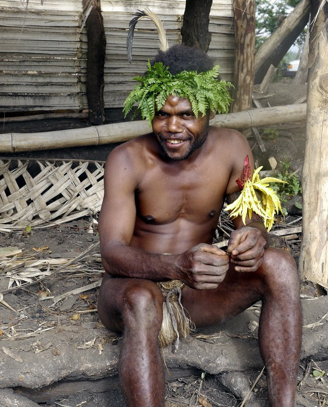Village man before dancing
