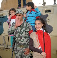 Families join the soldiers