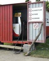 Petrol pump downtown Lenakel