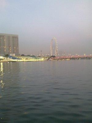 Singapore Flyer + Floating Platform