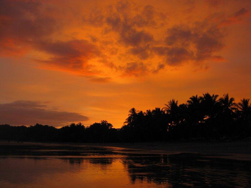 Sunset over Playa Samara