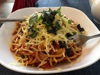 Vegan spaghetti sIciliana