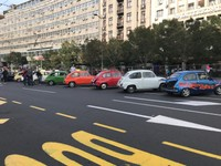 Fiat 500s in a row