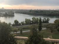 The confluence of Sava and Danube rivers