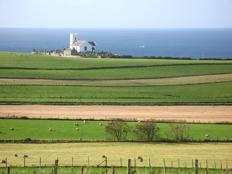 Church on the North East coast of Ireland