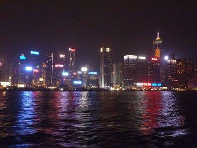 Light show, Hong Kong Harbour