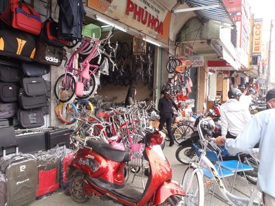 One of many bicycle shops on Tran Hung Dao, Hue