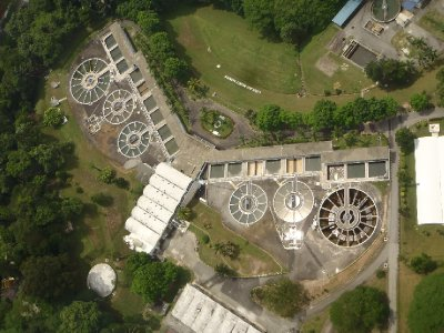 Water treatment plant... or giant angry owl?