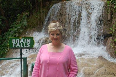 Cindy at the Falls.