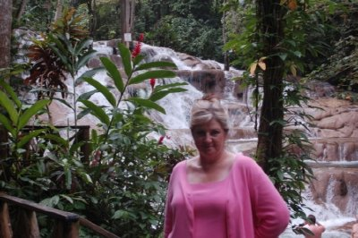 Cindy at Dunn's River Falls