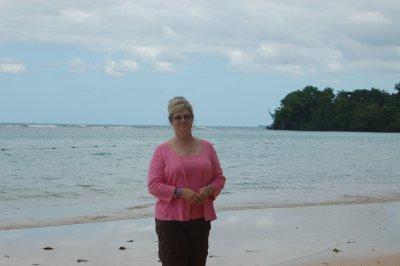Cindy at the beach.