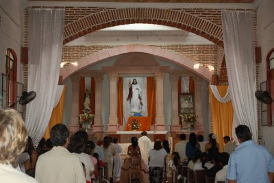Church in Ixtapa where Quincinera was going on.