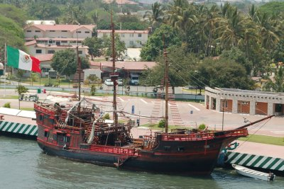 Pirate ship used for excursions