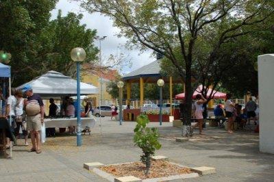Vendors on the square