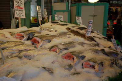 fish at Pikes Place Market