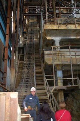 Check out all those stairs!!  YIKES.  There were no handrails back when it was in operation.