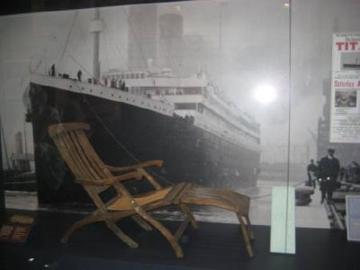 Deck chair from the Titanic