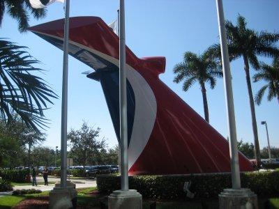 Outside Carnival Headquarters