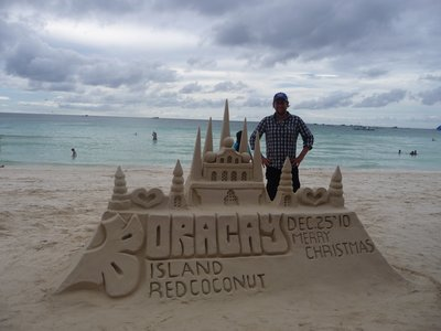 Look at the sandcastle i made