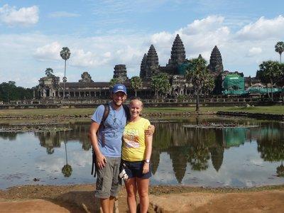 Hannah and Phil, Angkor Wat