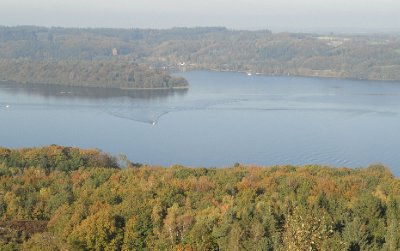 Lovely view of Lake Julsø from Himmelbjerget