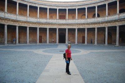 Courtyard Carlos V Palace