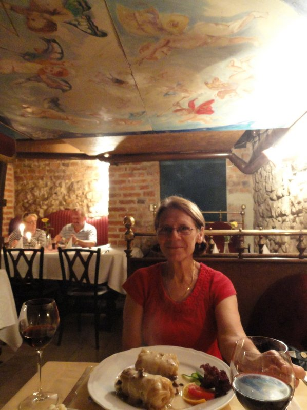 Sitting in a beautiful little nook in Bohema Restaurant