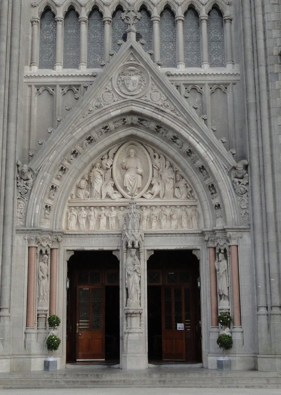 Ornate entrance, St Colman's Cathedral