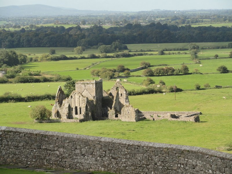 Looking down to St.Mary's, a ruined Cistercian monastery