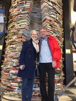 Visitiing the book tunnel at Municipal Library of Prague