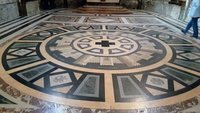 Mosaic floor, St. Jean Cathedral in Besançon