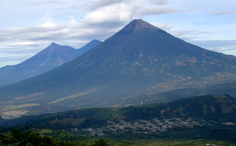 Volcanos surrounding Antigua