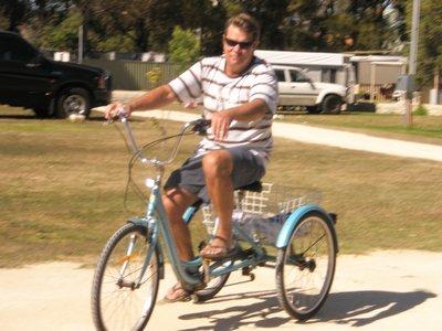 Tony giving Trixie a ride