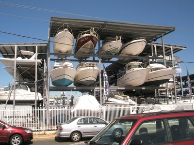 boats stacked everywhere