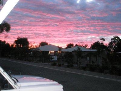 sunset on the Yorke Peninsula from Bertha's door