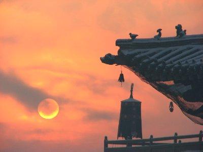 Sunrise at Gandan Monastery