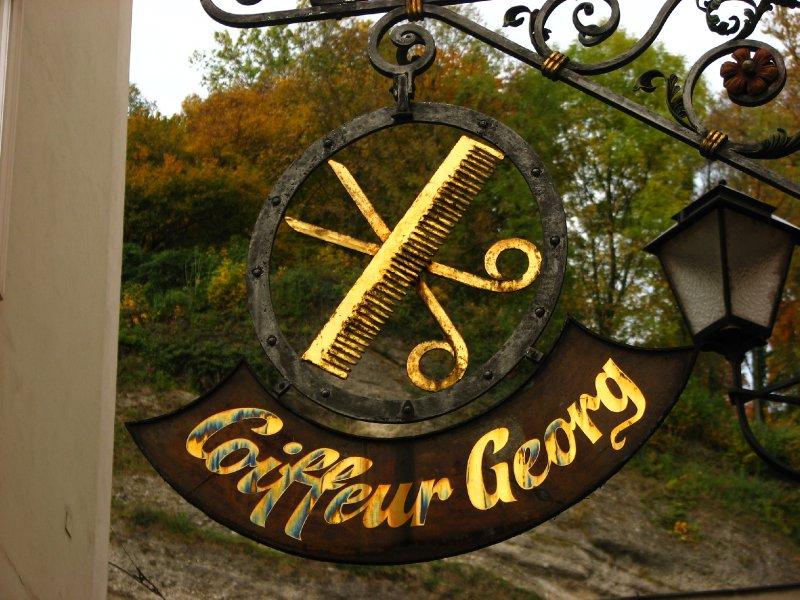 Coiffeur Georg hairdresser sign