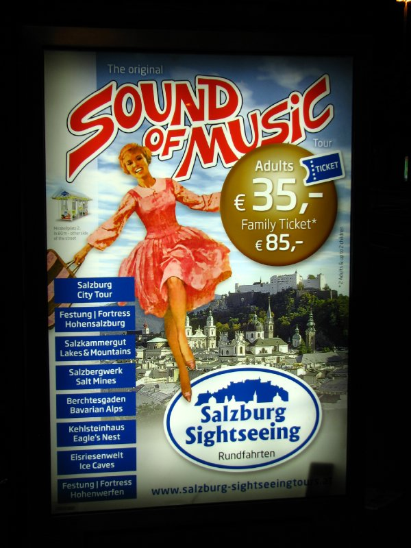 Sound of Music sightseeing poster