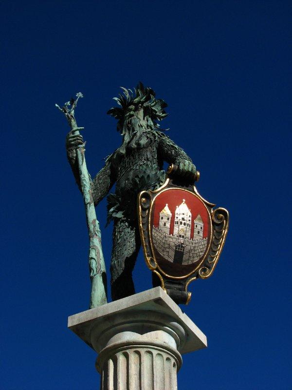 Wild man statue