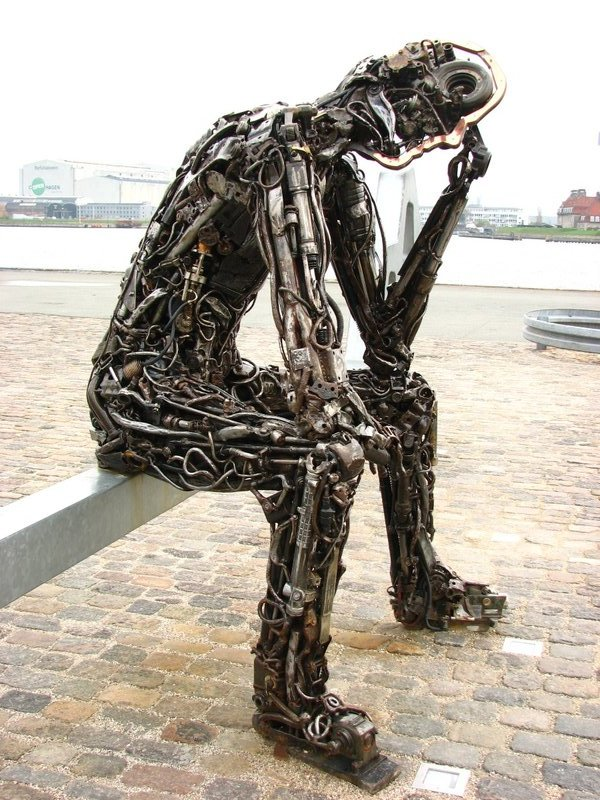 """""""The Key to the Future"""" sculpture"""